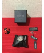 Kenneth Cole NY Skeleton Automatic Black Silicone Watch 40x51mm 10030790 - $85.00