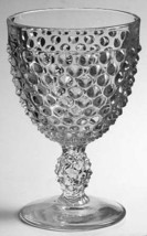 Vintage Water Goblet in Hobnail Pattern Clear (Pressed Glass) by Duncan ... - $14.99