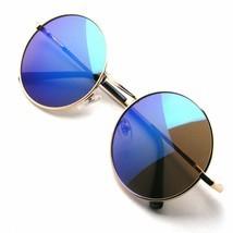 Retro Metal Redondo Hombre Mujer Moda Marco de Gafas Sol Lente Gafas Eele - £8.24 GBP