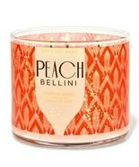 Bath & Body Works Peach Bellini Three Wick.14.5 Ounces Scented Candle - $23.95