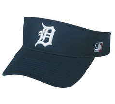 Detroit Tigers MLB OC Sports Sun Visor Golf Hat Cap Navy Blue White D Lo... - $14.99