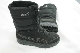Puma Kids Black Gore Tex Boots Sz. 4.5 Snow Winter Rain - $19.80