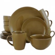 Elama Bristol Grand 16-Piece Dinnerware Set, Warm Taupe - $74.20