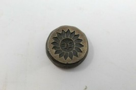 Antique Old Brass Sun Carved Pendant Dye Mold Seal Stamp Collectible - $60.78