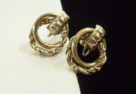 LISNER Double LOOP Twist Silver Plate Screw Back Earrings Vintage Estate... - $13.81