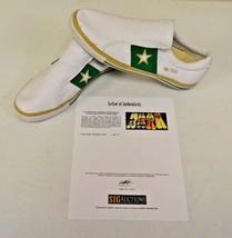 Converse One Star White Slipon Green sz 12 DWAYNE WADE Personal Owned Shoes COA - $148.49