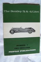 bentley 3 1/2  4 1/4 liter profile publications brochure history  - $24.95