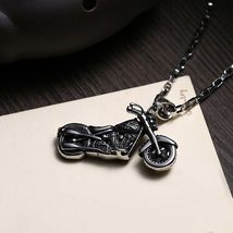 Skeleton Motorcycle Stainless Steel Handmade Necklace Pendant Fashion Jewelry image 4