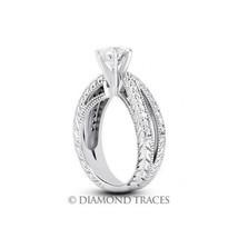 3.44ctw G-VS2 VG Round Genuine Diamonds 950 Plat. Split Shank Vintage Ri... - $18,228.08