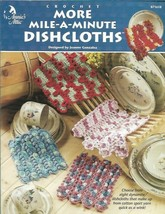 More Mile A Minute Dishcloths to Crochet Annies Attic 8 Designs 871618 1999 - $8.99