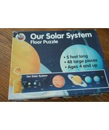 Educational Solar System large floor puzzle. Five feet long, 48 pieces - $9.89