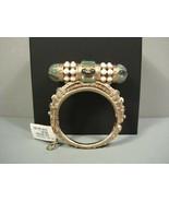 "Chanel Runway Sultana Jade Green Stones Gold Metal ""CC"" Cuff Bangle Brac... - $1,931.50"