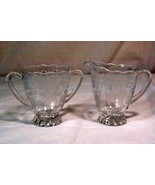 Viking Crystal New Martinsville prelude Creamer And Sugar Bowl Set - $14.48