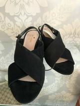 KATE SPADE Black Suede Slingback Sandal/Heels Sz 8.5 $298 - $94.17