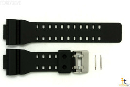 16mm Fits CASIO GA-100 G-Shock Black Rubber Watch Band GA-300 GA-120 w/2... - $10.99