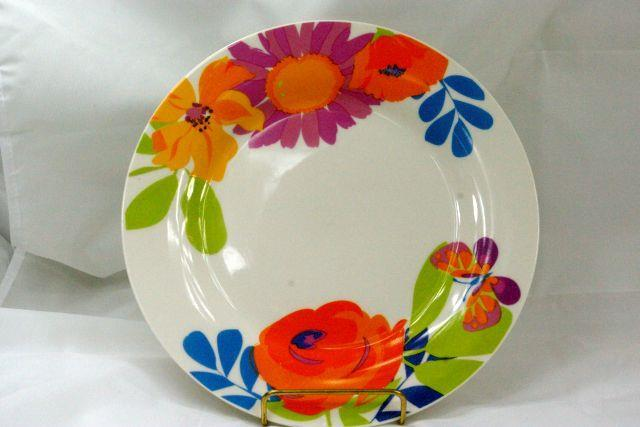 "Royal Norfolk Orange Flowers And Butterflies Dinner Plate 10 1/4"" - $4.84"