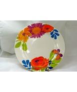 """Royal Norfolk Orange Flowers And Butterflies Dinner Plate 10 1/4"""" - $4.40"""