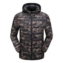 Winter Jacket Men Camouflage Jacket Men Warm Padded Hooded Overcoat Fash... - $69.62