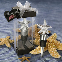 1 Elegant Starfish Wine Bottle Stopper Wedding Favor Gift Party Beach Su... - $3.60