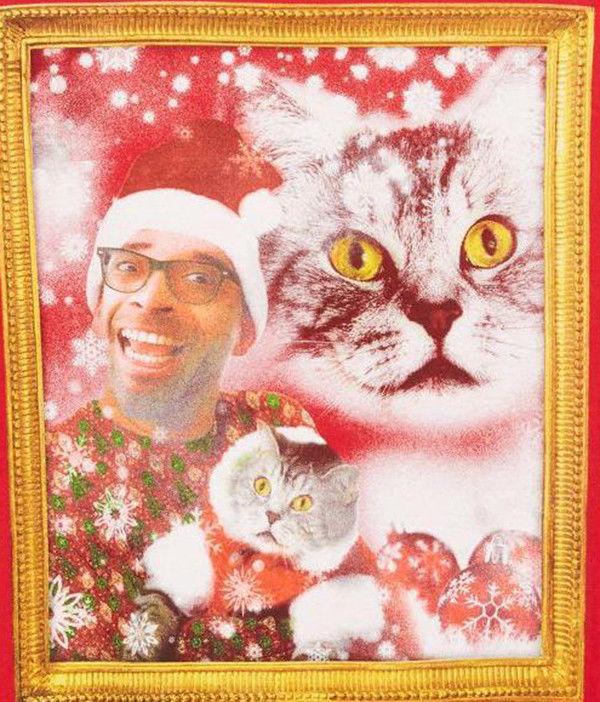 NEW MENS AMERICAN RAG CAT PORTRAIT RED SWEATSHIRT XL