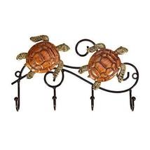 Tooarts Rustic Iron Wall Mounted Key Rack Holder Vintage Design with 4 Hooks Coa