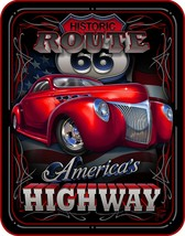 """AMERICA'S HIGHWAY ROUTE 66 QUEEN SIZE 79"""" X 96"""" SOFT MEDIUM WEIGHT BED B... - $56.95"""