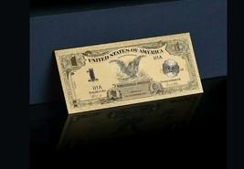 <GOLD>1899 Series$1 SILVER CERTIFICATE Black EAGLE Banknote Rep*W/COA~US S - $11.11