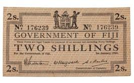 1942 Fiji 2 Scellini Emergenza Problema Nota in Au, P.50a - $148.55