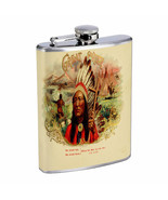 Vintage Cigar Box Poster D2 Flask 8oz Stainless Steel Hip Drinking Whiskey - $13.81