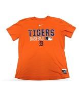 NIKE Orange Detroit Tigers MLB Baseball Dri-Fit T-Shirt Adult Men's Size... - $29.65