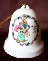 Enesco Precious Moments Bell Ornament Bundles of Joy porcelain Christmas... - $8.90