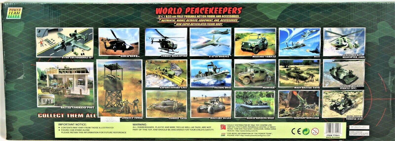 World Peacekeepers Power Team Elite Aerial Rocket Helicopter (ARH) 1:18 Scale image 8