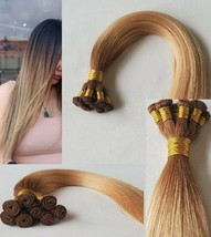 20″ Hand-Tied Weft Hair, 100 grams,100% Human Remy Hair Extensions #T5-12/16  - $217.79