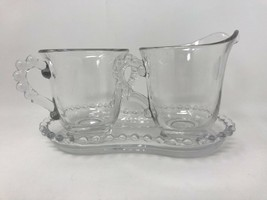 Candlewick Imperial Glass Creamer Sugar Underplate Tray 3 pc 400/2930 (#... - $19.67