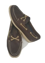 Sperry Top Slider Women Authentic Brown Leather 2 Eye Boat Shoe 6.5M ( Used 3X) - $20.79