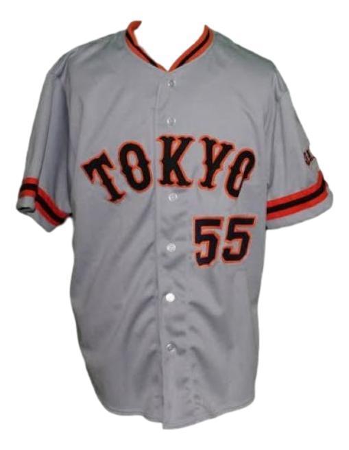 Hideki matsui  55 yomiuri giants tokyo baseball jersey grey   1
