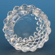 Vintage EAPG Pressed Glass Open Salt Diamond Point Sawtooth image 2