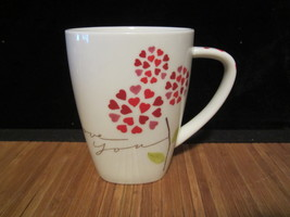 2007 Starbucks I Love You Red Heart Flowers-valentines Coffee Mug Tea Cu... - $14.99