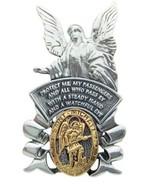 Guardian Angel and St. Michael Pray for Us Medal Car Visor Clip - $11.74