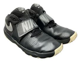Nike Black White 881941 Big Kids Size 6.5 NBA Basketball Shoes Fast Ship... - $34.30