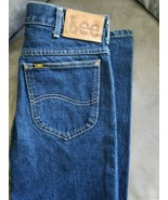 Vintage Mens LEE Jeans 2 Pair Black 34x32 Blue 31x34 Excellent Condition no rips - $29.99