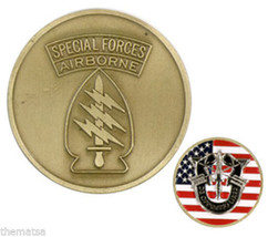 Army Special Forces Airborne Usa Flag Military Challenge Coin - $27.07
