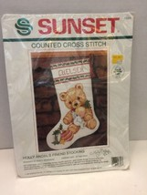 Sunset Counted Cross Stitch Kit i18323 Holly Angel's Friend Stocking Name New - $22.43