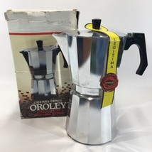 Oroley 12 Cup Cafetera Epres Stovetop Coffee Maker Aluminum Made in Spai... - $87.03