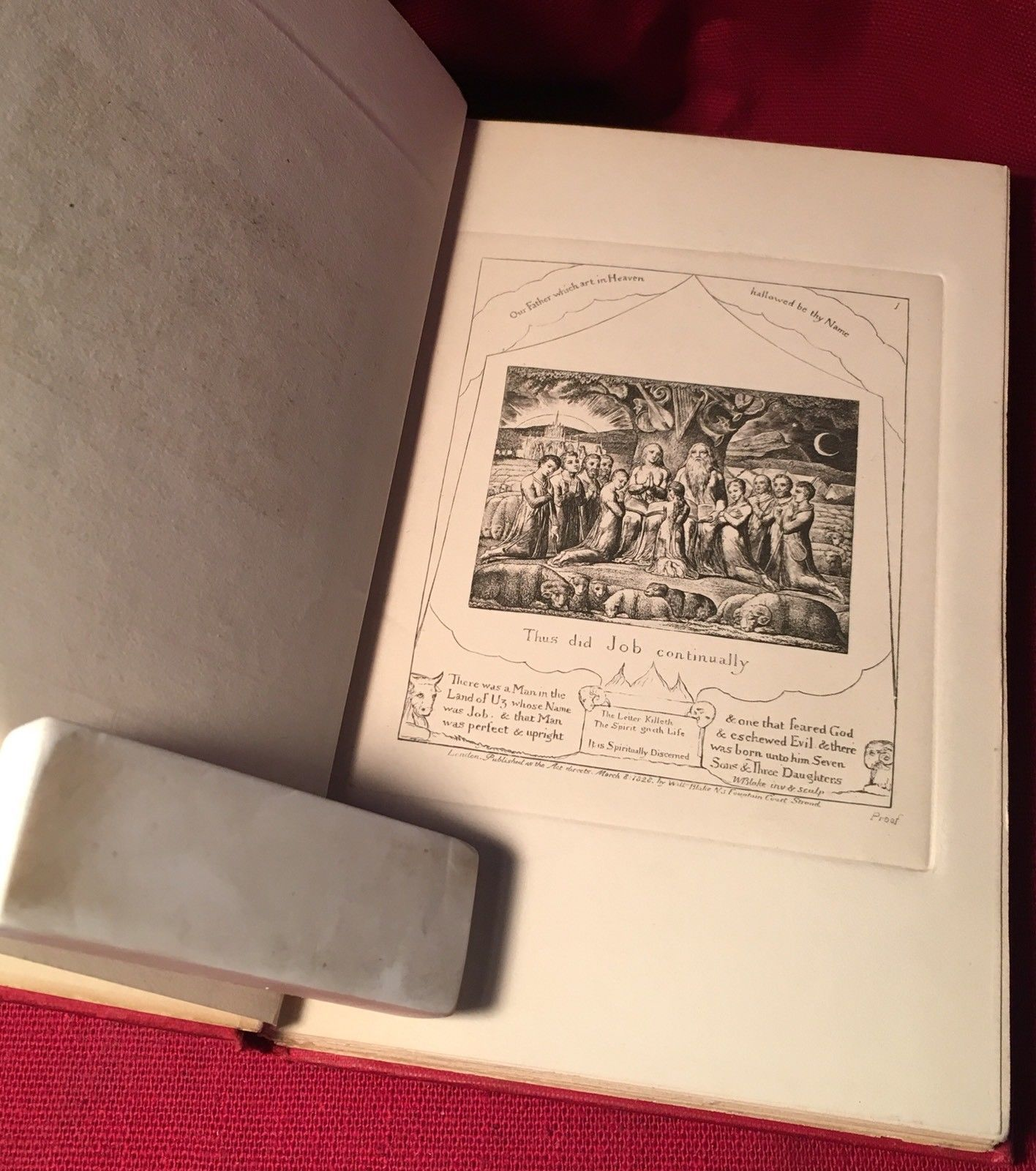 Illustrations From The Book Of Job - William Blake - 1903 Edition In Miniature.