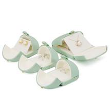 Small Faux Leather Wedding Jewelry Box Organizer- Wedding Jewelry - Sage green image 6
