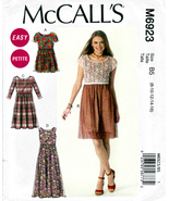 McCall's M6923 Misses Petite Dresses Romper Sewing Pattern Sizes 8-10-12... - $7.25