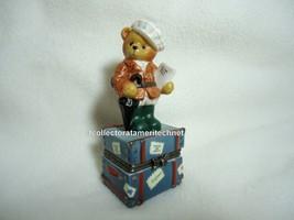 Cherished Teddies Covered Box Across The Seas England 1998 NIB - $23.71