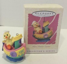 HALLMARK 1997 Duck in Tug Boat HERE COMES EASTER #4 ORNAMENT Easter Tree - $6.92