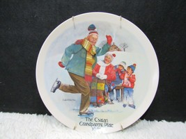 """Edwin Knowles """"The Skating Lesson"""" by Joseph Csatari Collectible Plate w/ Hanger - $9.95"""